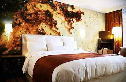 Abstract Graffiti Wall Murals Stickers for Small Contemporary Bedroom Decorating Ideas