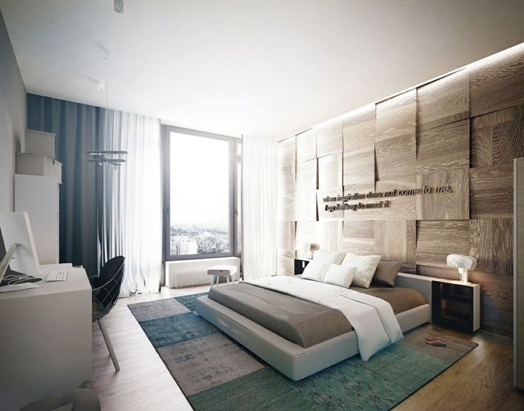 mur en bois pour une d co originale de chambre coucher chambre pinterest murs en bois. Black Bedroom Furniture Sets. Home Design Ideas