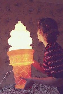 Amazing Ice Cream Cone Lamp for kids rooms #kidsroom #lightingideas #kidsbedroomideas Find more inspirations at www.circu.net