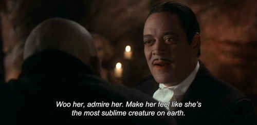 Gomez Addams, bringing his A-game. | Gomez And Morticia Addams Have The Best Marriage Ever