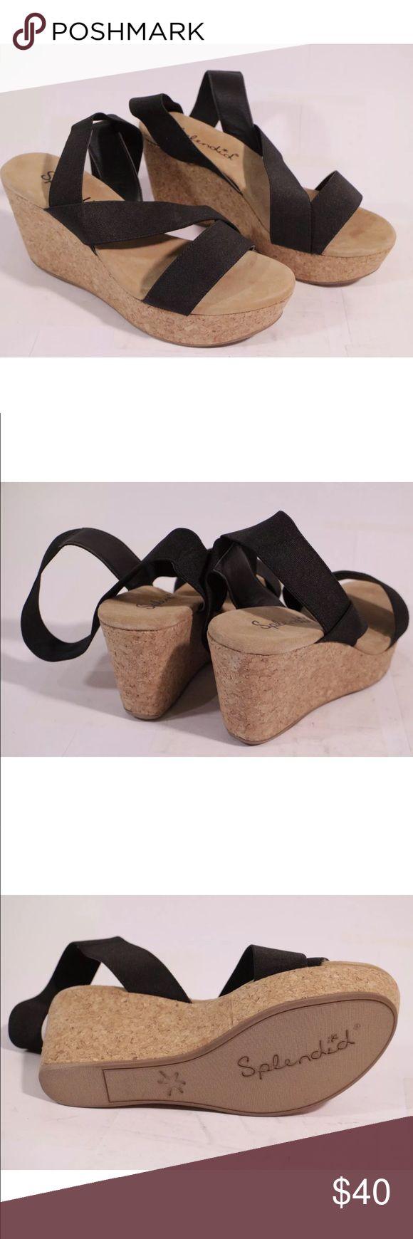 Splendid wedge sandals new Brand new, splendid black wedge sandals Splendid Shoes Wedges