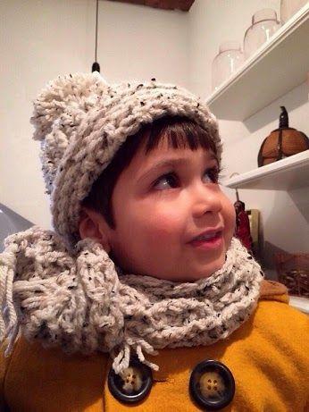 Mijn Haakblog: Gehaakte kindermuts met sjaal