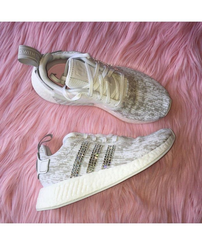 new concept 1071e 866e7 Adidas NMD White and Grey Bling Trainers UK