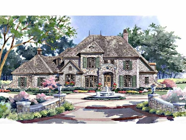 92 best images about beautiful homes on pinterest house for Large french country house plans