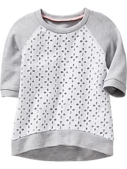 Eyelet-Front Terry-Fleece Tunics for Baby | Old Navy