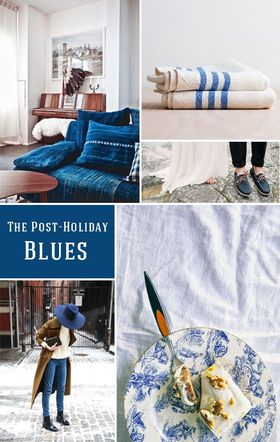 Color palette: the post-holiday blues
