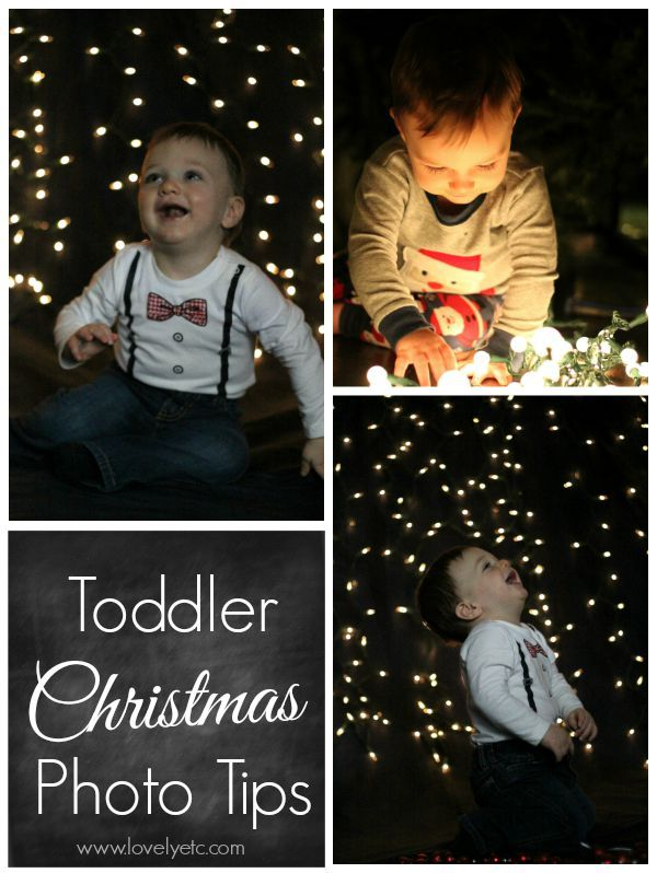 Tips for getting those precious Christmas photos of your toddler - because we all know it isn't as easy as it looks!