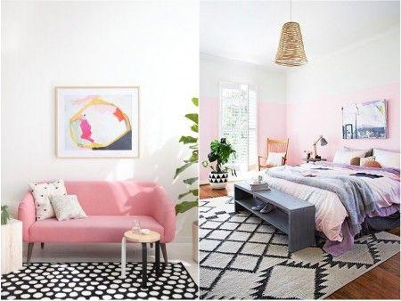 decoracion colores pasteles y rosa