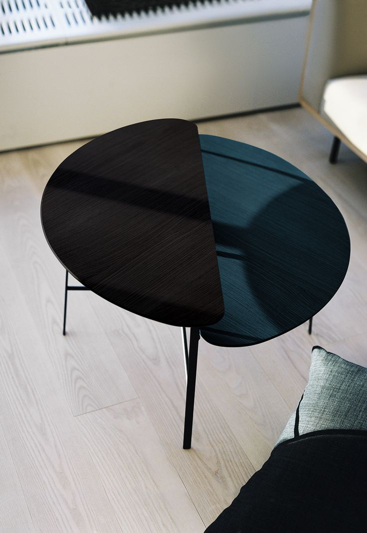 Table Coffee Bean by Monica Förster for Swedese   When designing Coffee Bean, Monica Förster sought inspiration in nature, in line with the Swedese tradition. The name explains the shape, which follows the curved shapes and organic materials of a coffee bean. Specifically, the table also engages in a dialogue with the archives of Yngve Ekström and his design aesthetics, which often took as their starting point a particular shape he had noticed in the rich nature outside his home.