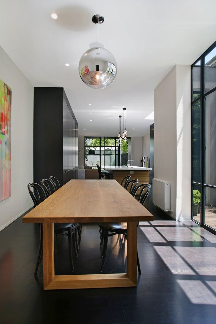 Tom Dixon Mirror Ball: Architecture 13, Melbourne Australia, Fitzroy Resident, Carr Design, Industrial Aesthetics, Dining Spaces, Modern Kitchens, Dining Tables, Carr Architecture
