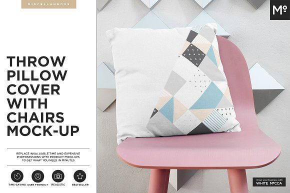 The Throw Pillow Cover With Chairs by Mocca2Go/mesmeriseme on @creativemarket