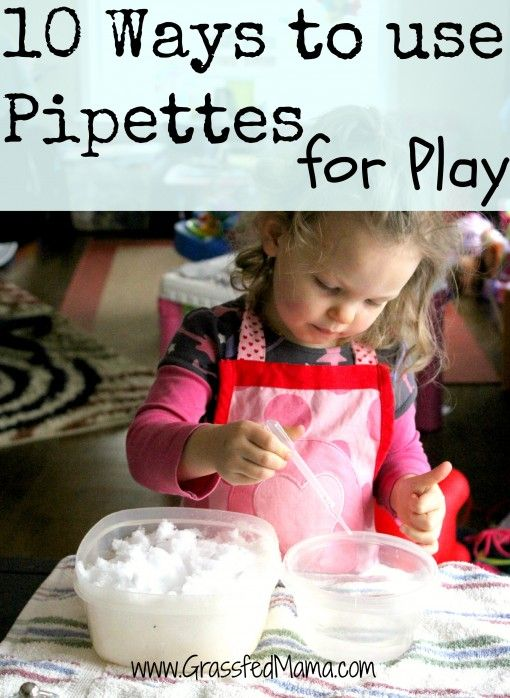 10 ways to use pipettes for play. Build those fine motor skills!
