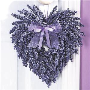 heart-shaped lavender wreath