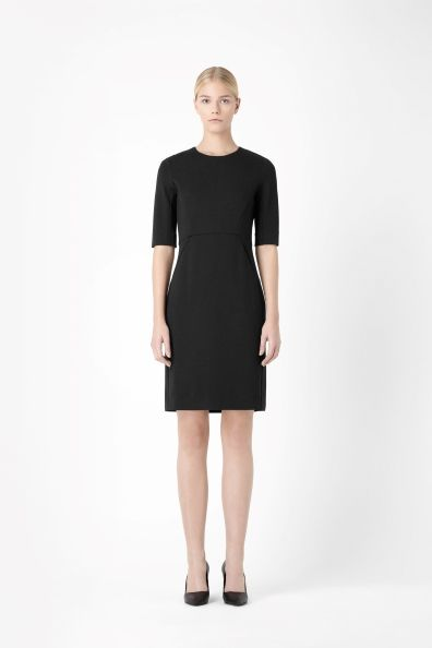 Panelled jersey dress