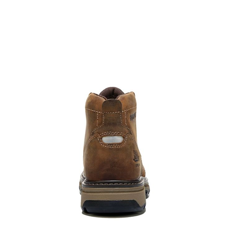 Caterpillar Men's Parker Slip Medium/Wide Work Boots (Brown Leather) - 13.0 M