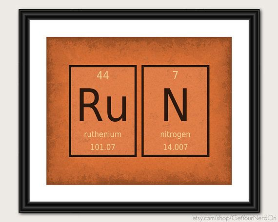 44 best elements images on pinterest periodic table chemistry and periodic element word poster run wall art print available as 8x10 11x14 or 16x20 urtaz Image collections