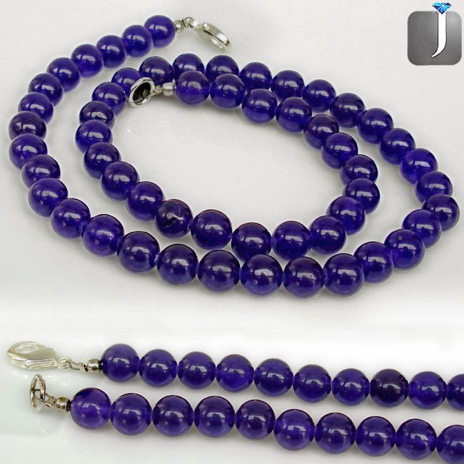 CHARMING AWESOME PURPLE AMETHYST SILVER NECKLACE BEADS JEWELRY C84361 #Jewelexi #Beads