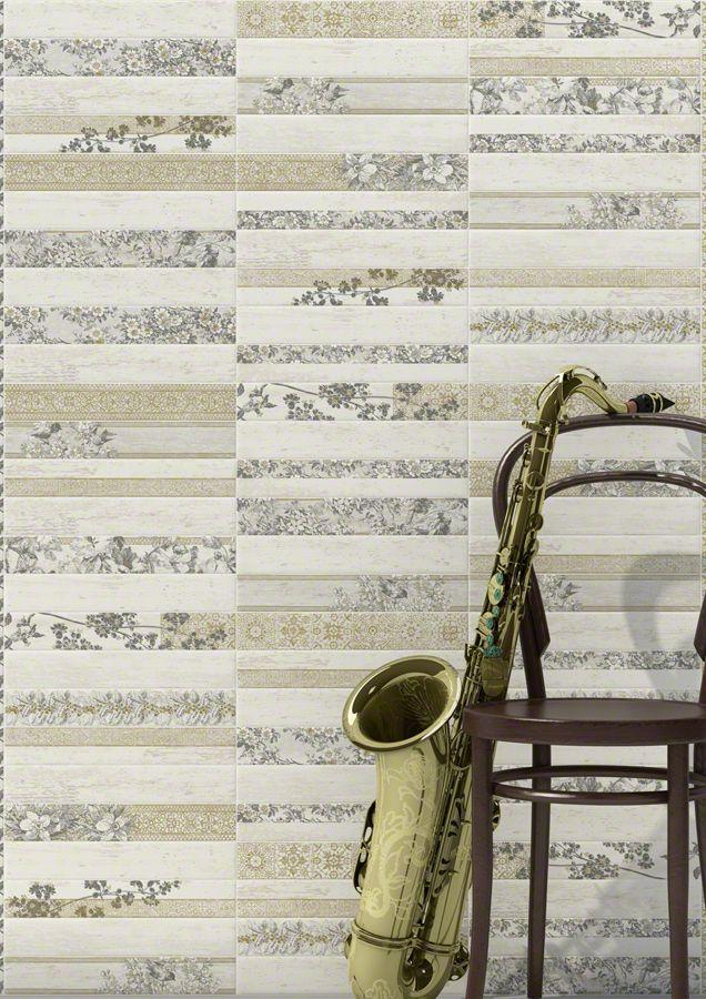 Fedora Blanco / Loris Blanco · 6,5x40 cm.  Ambientes cerámicos Pasta Blanca White Body   #VivesAzulejosyGres