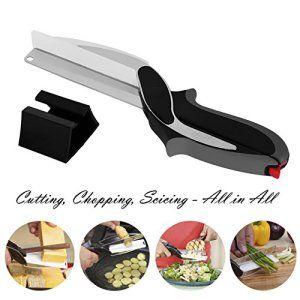 Clever Cutter alimentaire Chopper 2en 1–Remplacer vos couteaux de cuisine et planches à découper, complément alimentaire pour bébé,…