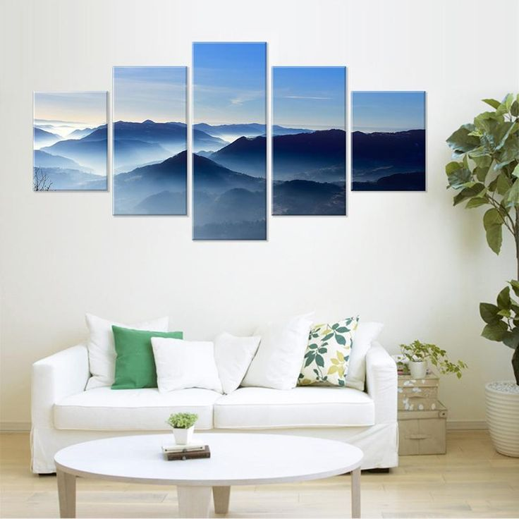 Mountain Blue Sky Home Wall Art Modern