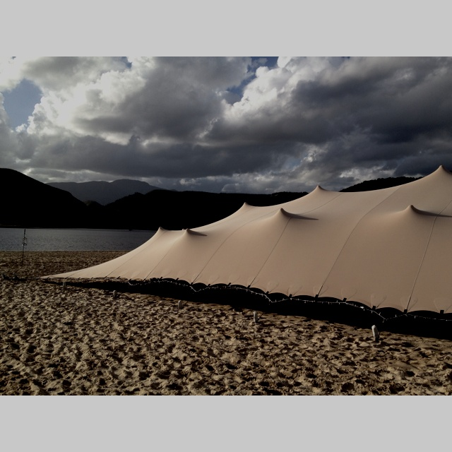 Versatile tent for beach wedding
