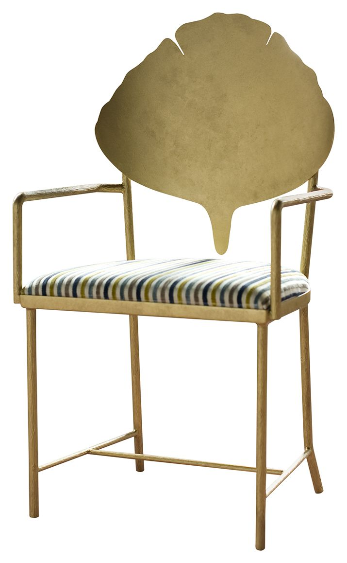 Lucien Armchair GC1110 Crafted Out Of Steel With A Hand Painted Finish,  This Organically