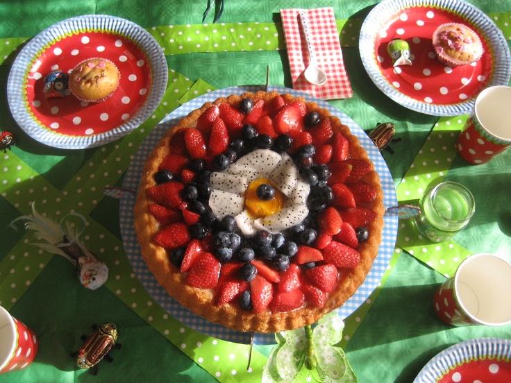Torta de frutas, Matetrinken Una fiesta en el jardín!!