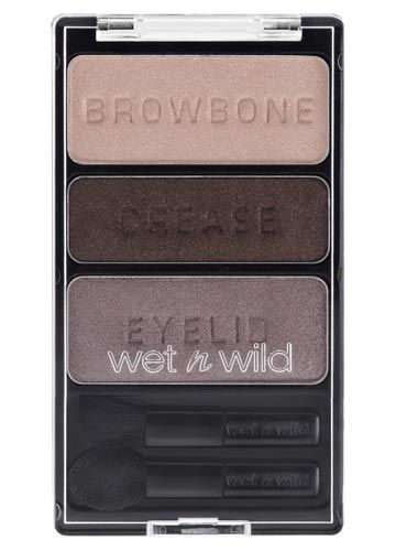 Wet n Wild Color Icon Trio Eye Shadow in Silent Treatment AMAZING!!! These trips go on amazing they r buttery they are so pigmented and cheap!!! Really cheap!!!