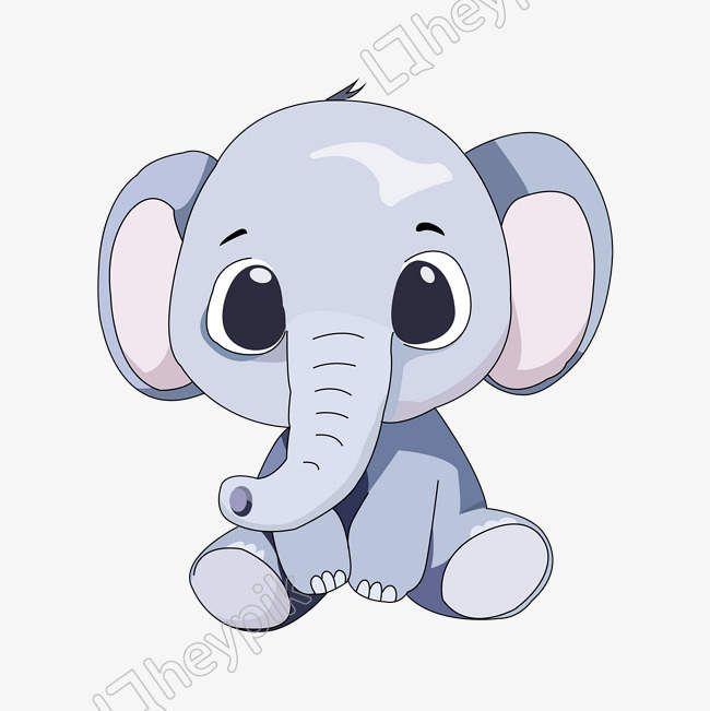 Cartoon Hand Drawn Baby Elephant Vector Png Vector Image Cute Elephant Cartoon Cartoon Elephant Baby Elephant Cartoon