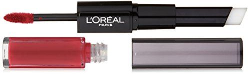 L'Oréal Paris Infallible Pro Last 2 Step Lipstick, Mesmerizing Merlot, 1 fl. oz.  Lipstick with high-intensity color  The pro look of longwear  Stays put for up to 24HR  Transfer resistant