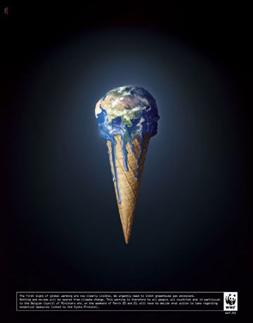 Global Warming Ad, Global Melting Actually