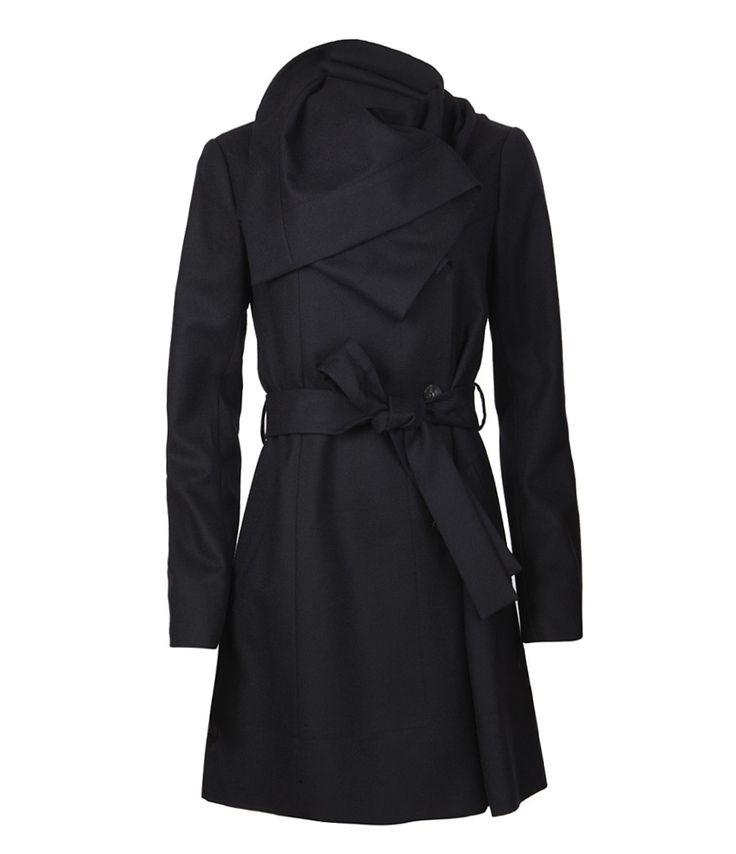 I like the draping around the neck. I think I have a penchant for origami-looking coats