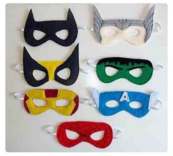 Kids Super Hero Costume Mask by LaurynandLuca on Etsy