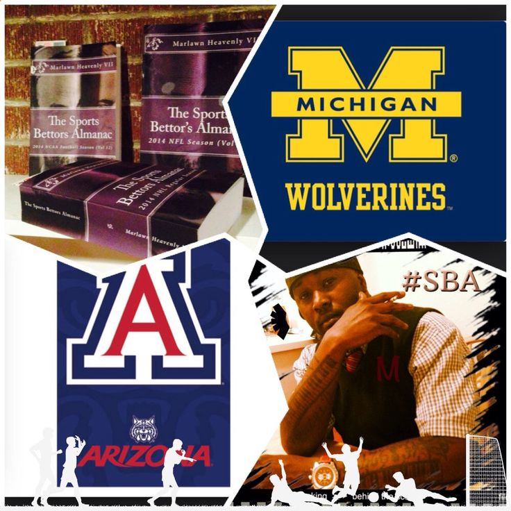 12/13/14 NCAAM #Michigan #Wolverines vs #Arizona #Wildcats (Take: Wildcats -11,Under 129) SPORTS BETTING ADVICE On 99% of regular season games ATS including Over/Under The Sports Bettors Almanac available at www.Amazon.com TIPS ARE WELCOME : PayPal - SportyNerd@ymail.com Marlawn Heavenly VII #NFL #MLB #NHL #NBA #NCAAB #NCAAF #LasVegas #Football #Basketball #Baseball #Hockey #SBA #401k #Business #Entrepreneur #Investing #Tech #Dj #Networking #Analytics #HipHop #MYTH7