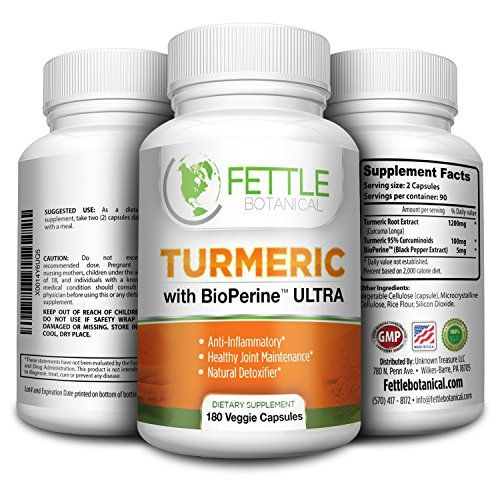 Tumeric Curcumin with Bioperine 180 Caps 1300mg Daily Dose Black Pepper Extract Piperine Tumerics Turmeric Supplements Natural Antioxidant Veggie Capsules Curcuma Longa Supplement Fettle Botanical -- Learn more by visiting the image link.