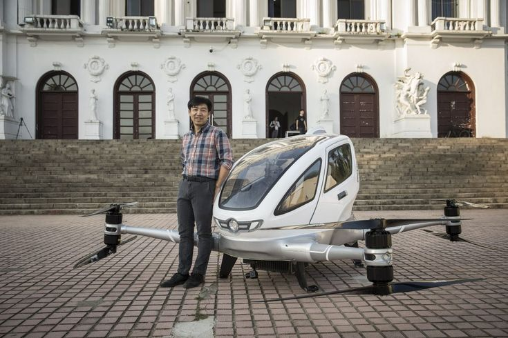 Taxi Drones Could Take Flight in Dubai in 2018  E-Hang's CEO Hu Huazhi with the E-184 drone. Qilai Shen / Bloomberg  Skift Take: Next great startup idea? Drone phobia classes for reluctant flying car passengers in Dubai Saudi Arabia and Singapore EHang's hoped-for initial markets. There have definitely been worse startup ideas.   Dennis Schaal  A Chinese startup has developed a flying car that it plans to roll out as soon as next year.  EHang Inc.sE-184 drone can carry one passenger in its…