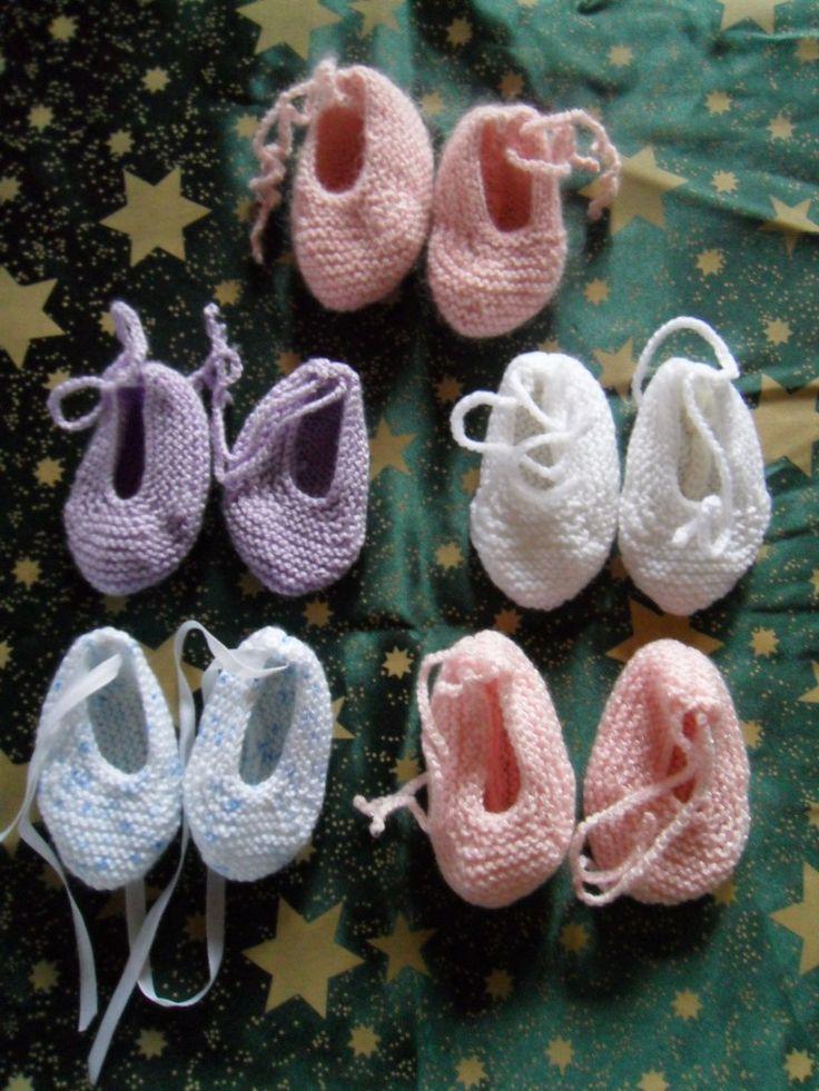 Chaussons au tricot | Tricot facile pour chaussons taille adulte ou bébé
