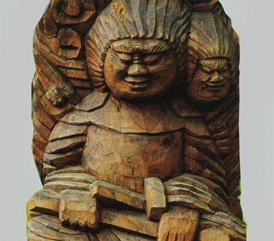 千光寺の円空仏寺宝館の 「両面宿儺」