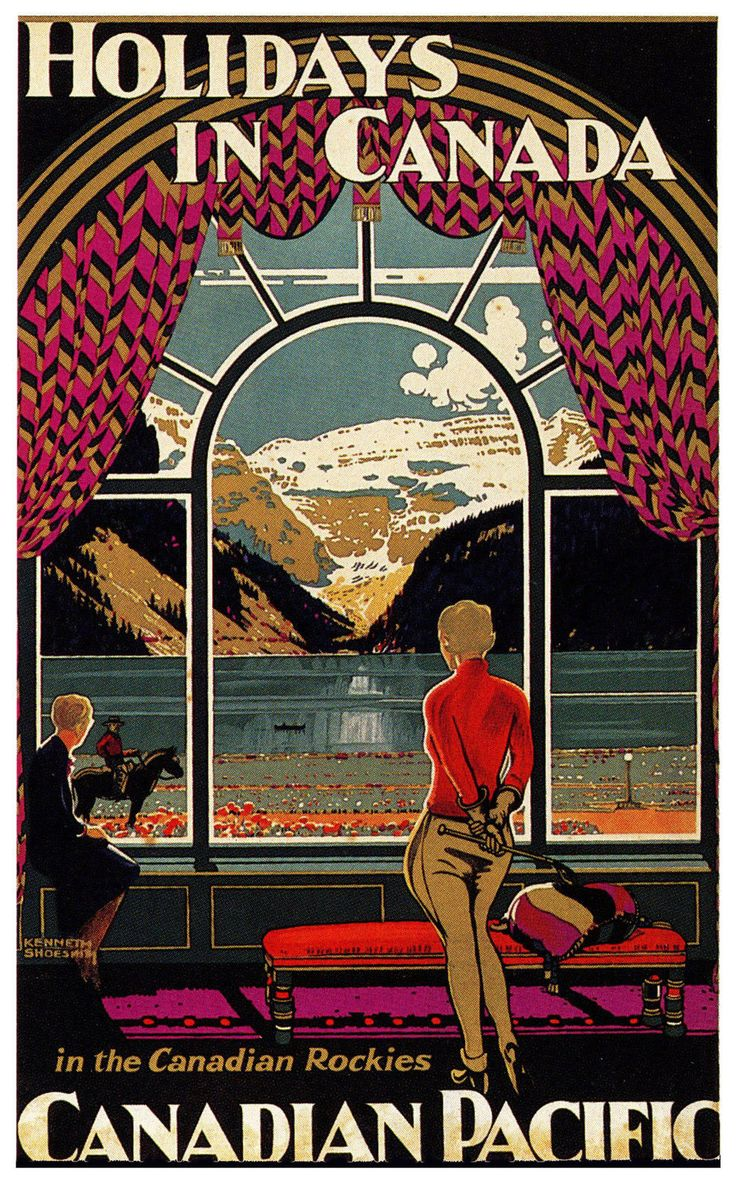 Canada Vintage Canadian Pacific ART Deco Travel Poster A1A2A3A4SIZES | eBay