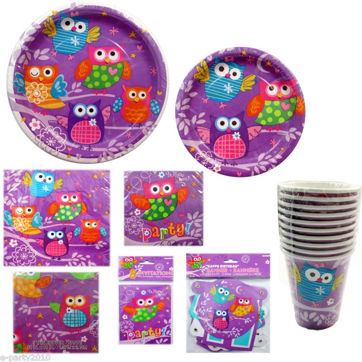 Purple owl party supplies- I already got these for diva's party!