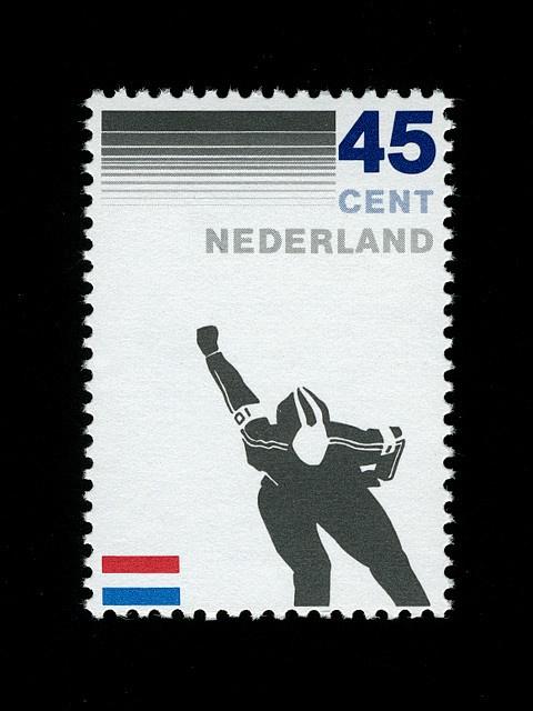 Nederland 1982  schaatsen