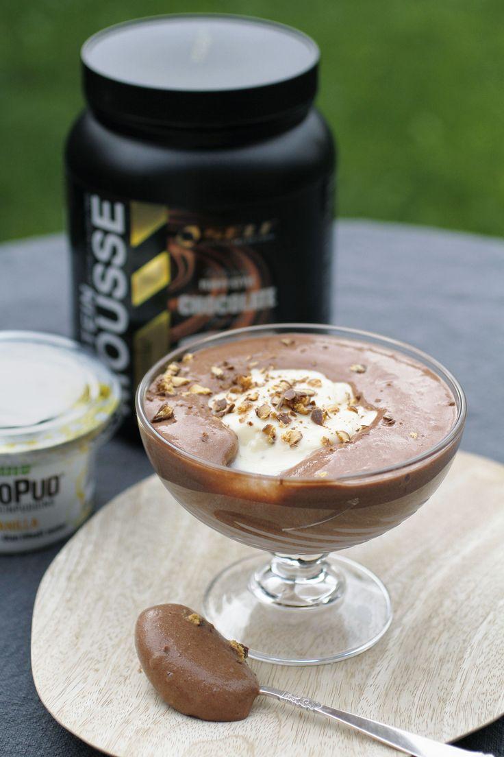 Superdigg proteinrik sjokolademousse sin er enkel å lage fra Self Omninutrition!