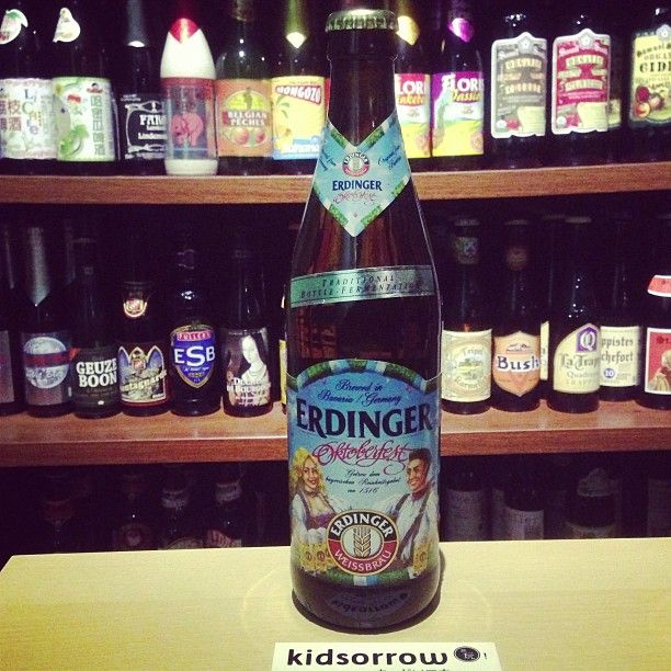 Erdinger德國十月啤酒節小麥啤酒│Erdinger Weissbier  豐盈滑順的啤酒泡,清香裡帶點水果香氣。 #beer #craftbeer