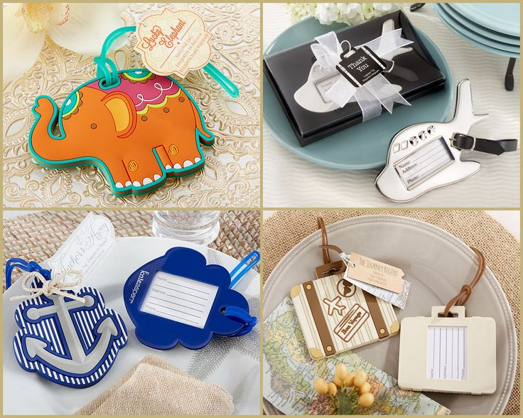 Luggage Tag Wedding Favors from HotRef.com