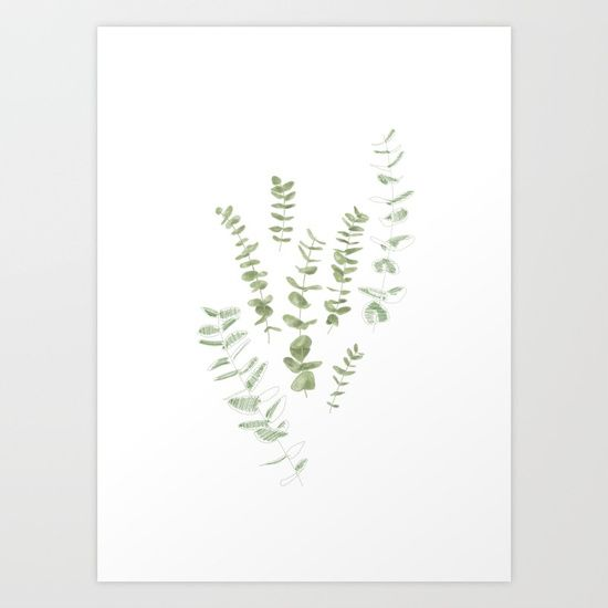 EUCALYPTUS Art Print by Inma Cj. Worldwide shipping available at Society6.com. Just one of millions of high quality products available.