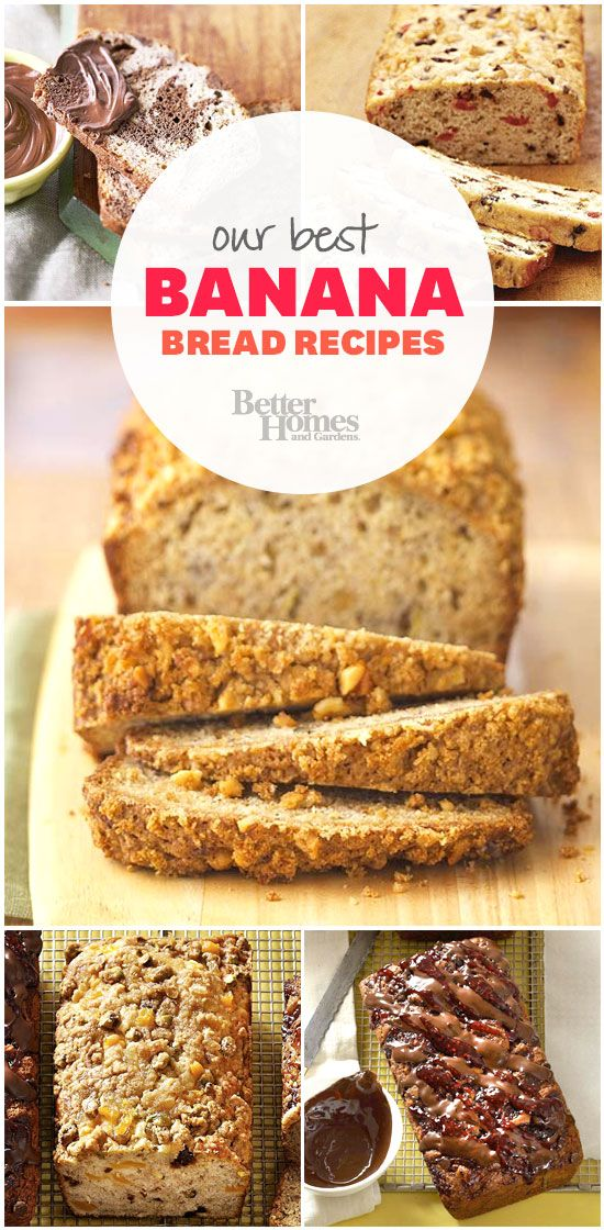 These banana bread recipes are irresistible! See all 22 here: http://www.bhg.com/recipes/bread/our-best-banana-bread-recipes/