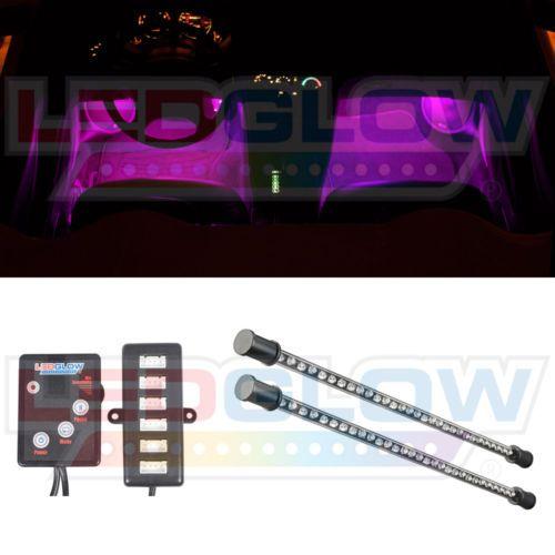 Fancy LEDGlow Tubes Pink Color LED Interior Neon Car Under Dash Lights Kit w LEDs