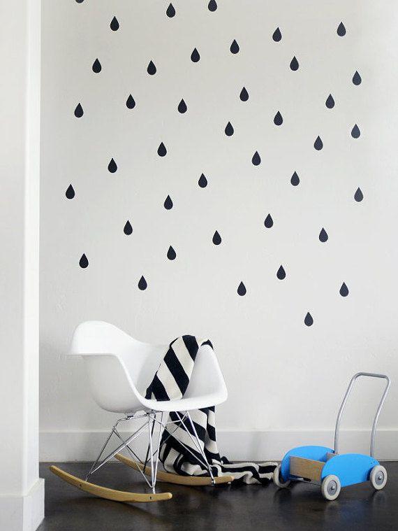 Rain drops wall decal scandinavian design by StudioPicco on Etsy