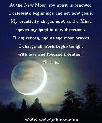 Moon affirmation