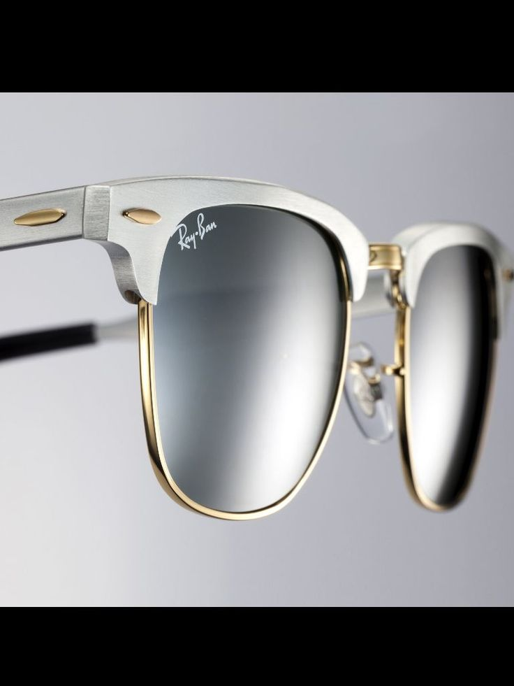 Silver Clubmaster Ray Ban